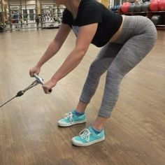 These four booty exercises are definitely some of my favorites. AND you can perform them all on a cable straight leg dead lift front squats back squats frog walks One of my biggest tips for when training glutes is to always push through your heels -- this will activate your glutes and hamstrings rather than your quads #fullworkoutisonmyyoutubechannel #linkinbio #oldvideotho #soiguesstbtuesdayitis