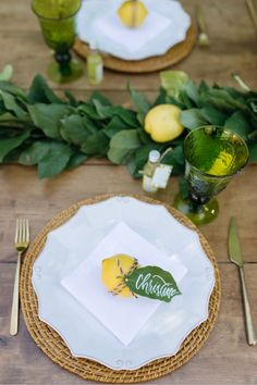 Place setting from a Rustic Lemon Themed Baby Shower on Karas Party Ideas 28 Fiesta Baby Shower, Baby Shower Table, Shower Party, Baby Shower Parties, Baby Shower Themes, Baby Shower Decorations, Shower Ideas, Italian Party Decorations, Simple Baby Shower