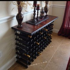DIY WINE RACK  http://mytrashytreasures.blogspot.com/2009/11/fave-blog-friday-112009.html