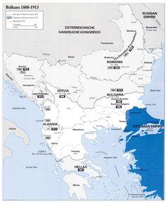 Balkans Map (1800-1913)