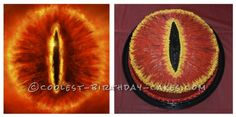 Lord of the Rings – Eye of Sauron Cake ...This website is the Pinterest of birthday cakes