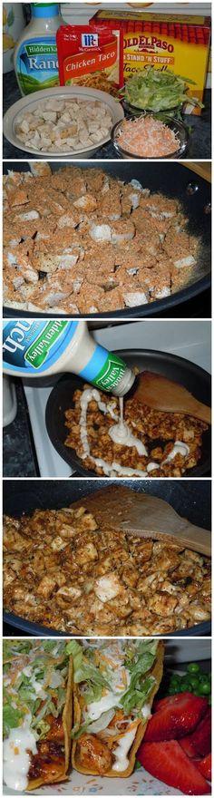 Chicken Ranch Tacos Recipe