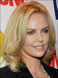 Her medium length blonde hair