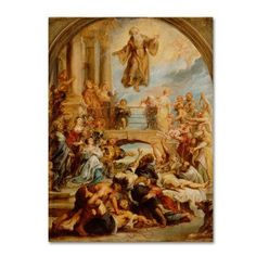 Trademark Fine Art 'The Miracles Of Saint Francis Of Paola' Canvas Art by Peter Paul Rubens, Gold