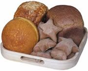 Wholemeal star rolls - bread machine