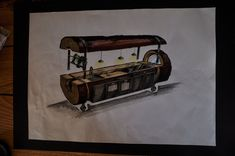 """A sketch for the Treekitchen. In the end the """"roof"""" wasn't realized, but we used this piece of the log to frame the electrical appliances. Oak Logs, Electrical Appliances, Designer, Sketch, Woodworking, Unique, Frame, Kitchen, Home Decor"""