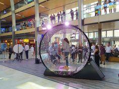 Die Glücksdusche unserer Center Gutschein Aktion in Aktion! #EuropaPassage #Hamburg #Center #Shopping