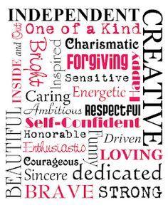 characteristics of a girl