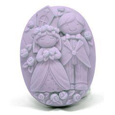 Molde para fazer sabonete de boda, pastilha noivos