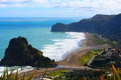 Piha Beach, Auckland - Piha is Auckland' s most famous beach. Situated on Auckland's west coast , this wild and untamed black sandy beach is a favourite with surfers and tourists captivated by . Auckland New Zealand, Famous Beaches, Meanwhile In, Us Images, West Coast, The Good Place, Surfing, To Go, Explore