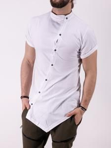 K&B men moved buttons mock neck t-shirt - white men's fashio Mens Kurta Designs, Indian Men Fashion, Mens Fashion Suits, Sport Fashion, Boy Fashion, Fashion Art, Fashion Design, Stylish Shirts, Casual Shirts