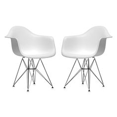 Plastic Chair in White (Set of 2) $180 at bedbathandbeyond.com