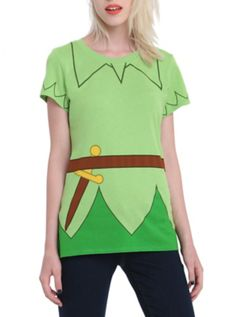 Disney Peter Pan Girls Costume T-Shirt ........ Ha ha, reminds me of one Halloween when the family dressed up as Peter Pan characters (our girls loved it) I was Pan and my husband was Hook