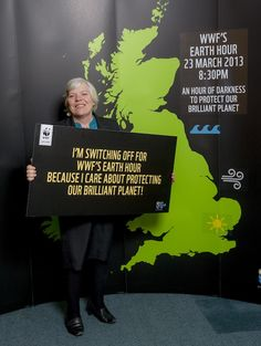 Sheila Gilmore MP show's support for WWF'€™s Earth Hour 2013. They will be joining millions of people across the UK in switching off their lights at 8.30pm on 23rd March to show they support clean, green, renewable energy