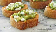 Avocado And Goat Cheese Toastettes ... Delicious Appetizers