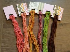 Pretty Lot of Overdyed Floss - Natural Dyes  Lot 65 - Wholesale Pricing #QueenCityDyeCompany