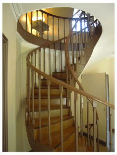 spiral staircase, Cottage Orné