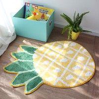 Product Name: Floor Mat Fabric: Dacron Shape: Panda, Pineapple Size: Panda---19cm*63cm*55cm, Pineapp