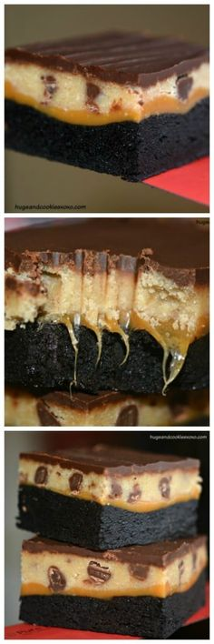 Caramel and Oreo Stuffed Brownies Brownie Recipes, Cookie Recipes, Dessert Recipes, Chocolate Recipes, Just Desserts, Delicious Desserts, Yummy Food, Yummy Treats, Sweet Treats