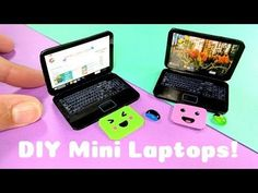 DIY Realistic Miniature Laptop - Dollhouse DIY Hi fellow dweebs! My name is Jackie and I love crafting geeky diys. I mainly use polymer clay, resin, felt, and soap on my channel, but I love experimenting . Dollhouse Tutorials, Diy Dollhouse, Dollhouse Miniatures, Barbie Dolls Diy, New Dolls, American Girl Accessories, Barbie Accessories, Miniature Crafts, Miniature Dolls