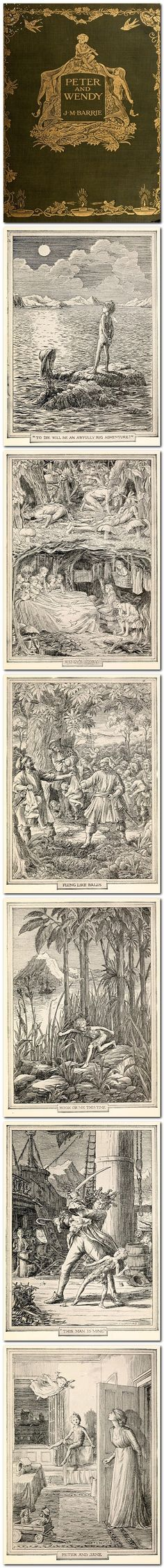 Peter and Wendy by J. M. Barrie, illustrated by F. D. Bedford, was published by Hodder & Stoughton (London), and Charles Scribner's Sons (New York), in 1911.