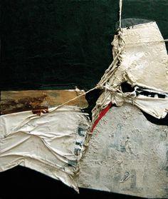 Giuseppe Berni Mixed Media Painting, Mixed Media Collage, Collage Art, Alberto Burri, Abstract Art Images, Art Alevel, Tachisme, Collage Techniques, Textile Fiber Art