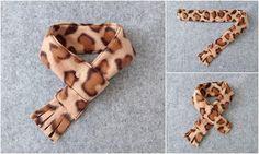 Pet Scarf Fleece Leopard Print Dog Scarf Cat Scarf Pet