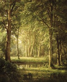 William Trost Richards (Am. 1833-1905), Early Summer, vers 1888, huile sur toile, 61,6 x 51 cm, New York Brooklin Museum