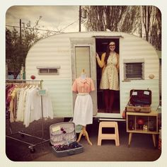 This charming image gives us an idea of what Rose looked like at her first show. Rose is home to Sam's vintage pop-up shop.