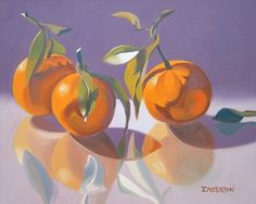 """Leigh-Anne Eagerton """"Lavender, Tangerines"""" Oil on canvas"""