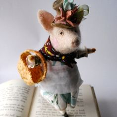 Original Needle Felted This Little Piggy went by MissBumbles