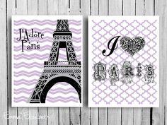 Mixed media J'adore Paris Original art Eiffel tower by EEartstudio, $17.00