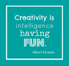 Creativity is... | repinned by www.BlickeDeeler.de | Follow us on www.facebook.com/BlickeDeeler