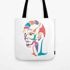 Tote bag - abstract head. #abstract #head #society6 #printondemand #arttobuy #forsale #totebag #shoppingbag #bag