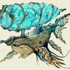 ArtStation - Mukhlis Nur (Sinlaire) Fantasy Concept Art, Robot Concept Art, Fantasy Map, Fantasy World, Character Design References, Character Art, Creature Picture, Pirate Art, Fantasy Art Landscapes