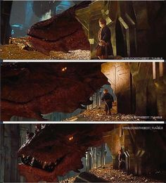 Day 7:  Favorite Antagonist  ~  Even though he doesn't show up until the very end, I like Smaug the best, mostly because he's voiced by Benedict Cumberbatch!  haha  But, he's also intelligent and verbally spars with Bilbo, and he looks pretty cool too.