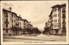 #Pamplona #Navarra. Avenida de Carlos III, 1933