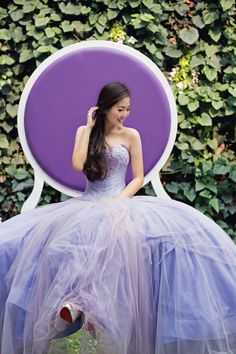 Lavender Long Tulle Gown with Pearly Bustier   photo by: Axioo Make Up by: Ade Adeline #purple #lavender #long #gown #dress #design #provocatebymeltatan #fashion #style #fairytale #tulle #girl #lady #pretty #photo #shoot #quinceanera #lady #picture