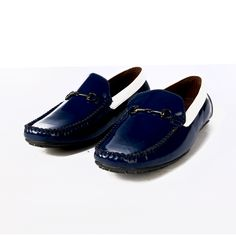 Buy Blue Driving shoe with contrast@ INR1639/-  #DrivingShoes #Moccasins #MenShoes #BlueShoes  www.prideswalk.com