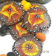 "Anastasia Lampwork Beads 7 ""Sunrays"" SRA | eBay  http://www.ebay.com/itm/261191445164?ssPageName=STRK:MESELX:IT&_trksid=p3984.m1555.l2649"