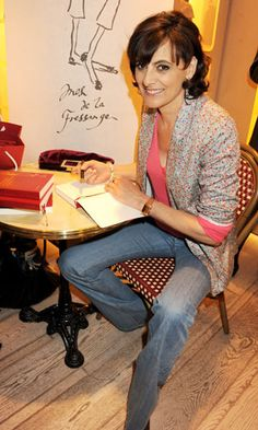 """ines de la fressange book signing - """"The French woman says so much without all of the unnecessary frosting that sometimes magnetically adorns other cultural style icons. What the French women realize is that less is more, buy quality and stick with what works. In other words let your personality, natural good looks and genuine smile do the talking, and let the clothing shine a spotlight on the amazing woman that you are."""""""