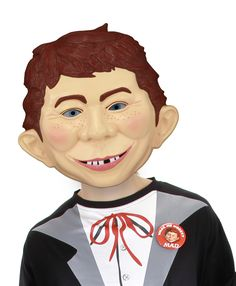 Alfred E Neuman Costume Mask Adult