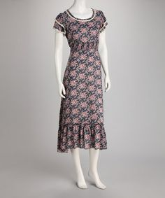 Take a look at this Navy Floral Maxi Dress by Jazzy Martini on #zulily today! $13.99, regular 48.00