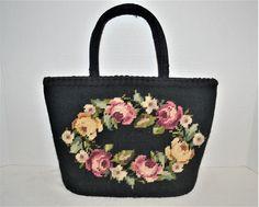 Vintage Handbags, Bombshells, Pinup, Needlepoint, Minimal, Reusable Tote Bags, Victorian, Handle, Trends