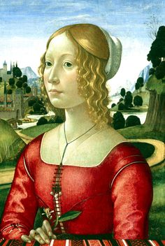 Domenico Ghirlandaio - Portrait of a Lady ca. 1490