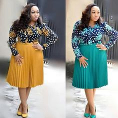 Image may contain: 2 people, people standing Business Casual Outfits, Professional Outfits, Office Outfits, Office Wear, Curvy Girl Fashion, Plus Size Fashion, Corsage, African Dress, Ankara Dress