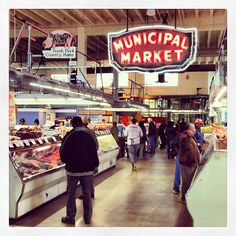 Sweet Auburn Curb Market in Atlanta, GA - An Atlanta institution in downtown Atlanta. A variety of counter service restaurants available for lunch and fresh produce options available.