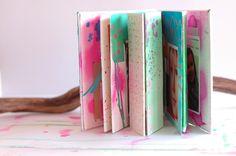 tutorial scrapbooking, acuarelas liquidas, mix-media. Colores. DIY. tutorial acuarelas.