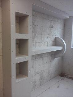 Ceiling Design Living Room, False Ceiling Bedroom, False Ceiling Design, Living Room Designs, Tv Rack Design, Wall Design, Built In Tv Cabinet, Spot Lumiere, Lcd Panel Design