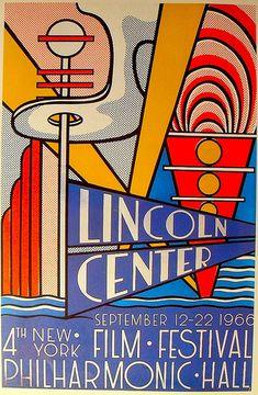 1966 Vintage Poster LINCOLN CENTER by ROY LICHTENSTEIN